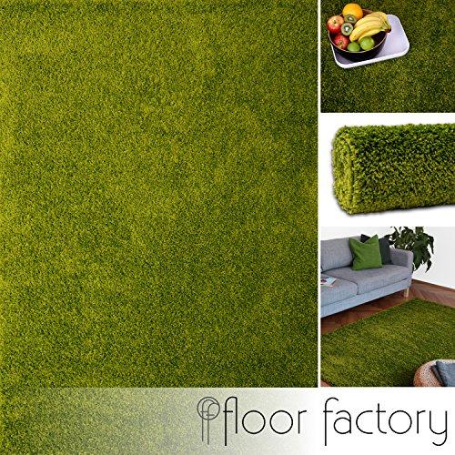 Floor factory tappeto moderno colors verde 160x230cm - tappeto shaggy pelo lungo super economico