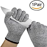 House of Quirk Cut Resistant Safety Gloves Food Grade Level 5 Protection(Free Size)