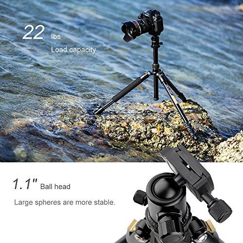 K&F Concept Trípode Completo TM2324 Trípode Flexible para Cámara Canon Sony Nikon con 360°Rótula de Bola Placa Rápida Liberación Bolsa de Transporte para Vieja y Trabajo