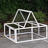 Animalhouseshop.de Kaninchen-Freilaufgehege Multirun White mit Nagerschutz 109x116x48cm