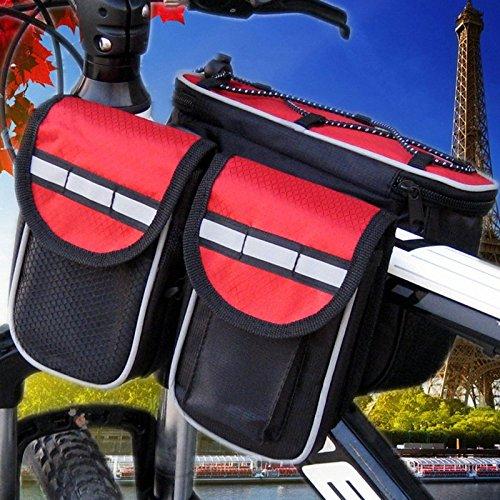 XY&GKFahrradtasche Fahrrad vorderer Träger Fahrrad Front Bag Outdoor Reiten Strahl Beutel, machen Ihre Reise angenehmer gules