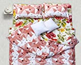 Story@Home Premium Soft and Light Weight Luxury Printed Reversible Floral Cotton Satin Single Comforter Filler - Pink