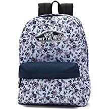 Vans REALM BACKPACK Mochila tipo casual, 42 cm, 22 liters, Varios colores (White Ditsy Blooms)