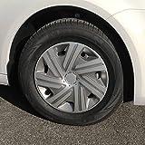 (Größe & Design wählbar) 15 Zoll Radkappen Cyrkon Graphit-Silber passend für fast alle Fahrzeugtypen (universal)