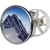 Waschbeckenstöpsel Design Großglockner | Abfluss-Stopfen aus Metall | Excenterstopfen | 38 – 40 mm