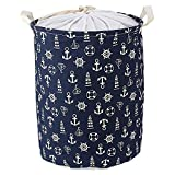 Laundry Basket Collapsible Storage Basket Material: 100% cotton with PE coating inside for waterproof