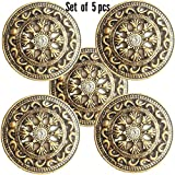 #10: Paushak Boutique Antique Rangoli button for indian dresses For Kurties,Gowns And Party Wears Dresses (set Of 5)