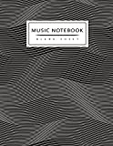 Music Notebook : Blank Sheet: Musical Notebook, Abstract, Black and White,  Abstract Notebook, Blank Sheet Music Staff Manuscript Paper, 12 Large Staves Per Page, 8.5 x 11 inch 110...