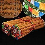 Dollbling Tibetisch-buddhistischen Gebetsfahnen String Fahne Deko Tibet Style 5Meter lang klar Muster Sutra Streamer, 20PCS Flaggen/Rolle