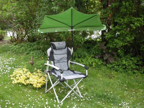 Set de loisirs – Parapluie Rouge + Chaise pliante bleu foncé – Holly-Sunshade®