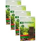 COM-FOUR® 160x meststokken - bloemenmeststof voor groene planten en bloeiende planten - plantenmest voor groei en gezonde blo