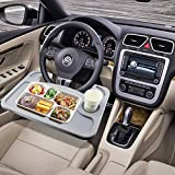 Best Car Accessories - ESUMIC® Car Laptop/Eating Steering Wheel Desk (Gray) Review