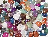 500 Gramm Bunte Trommelstein Mischung ca. 50-58 Steine ca. 1-3 cm mit Bergkristall, Rosenquarz,...