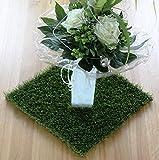 Grasmatte Kunstgras Gras Matte Osternest Deko Kunstblumen Kunstpflanzen Ostern (33cm)