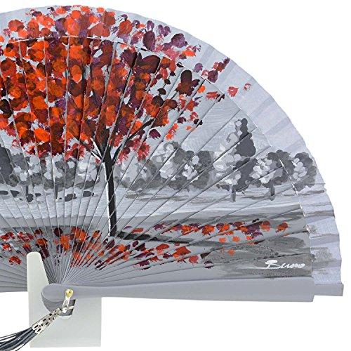 Fan roter Baum Grau