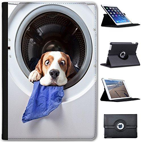 Waschmaschine Beagle Hund - Lustig Case Cover / Folio aus Kunstleder für das Apple iPad Mini 1, 2, 3 und Retina
