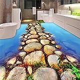 Ohcde Dheark Schönen Fluss Stein Weg Toilette Badezimmer 3D-Bodenbeläge Tapeten Pvc Selbstklebende Wasserdicht 3D Bodenf