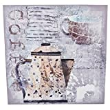Dadeldo Wandbild Coffee Mühle Tassen Kaffee Design Kunstdruck 40x40cm bunt (Motiv 2)