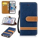 Nancen Wallet Case Hülle für Apple iPhone 5/5S/SE (4 Zoll),länglich-Taste Magnet,Muster Flip Funktion Kartenfächer Etui,Schütze Dein Telefon