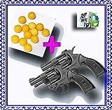 E-UNIQUE ARENA 2 Pcs 8 Round Mini Toy Gun + 200+ Pcs High Grade 6mm Plastic BB Pellets
