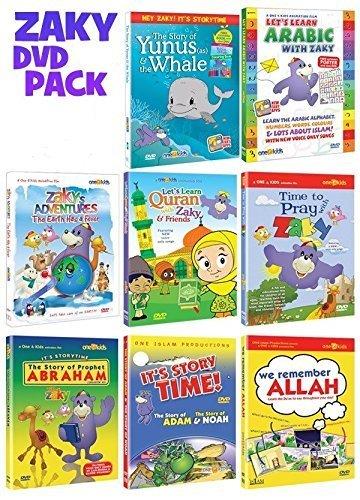 Zaky & Friends Islamic Dvd Collection of Zaky Series set of 8 DVDs Bundle by Zaky