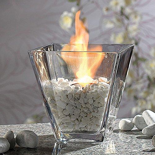 Mostromania - fuoco decorativo da tavolo - camino in miniatura a bioetanolo - decorazione da tavolo luminosa - candela piccola decorativa - idea regalo per la casa - regali di natale