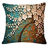 LMMVP-Home Cushion Covers,LMMVP Fashion Tree Leaves Sofa Bed Home Decoration Festival Pillow Case Cushion Cover (D)