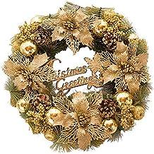 Weihnachten Weihnachtskranz Halloween Ziergirlande Kleiner Sonnenkreis Lichtfarbe Weizen Garland Simulation Blumenkranz Großhandel