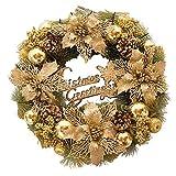 Couronne De Noël Or, L'intérieur Et L'extérieur Idéal Déco Pour Magasins,bureaux, Noel, Sapin, Maison, Mariages, Anniversaire...