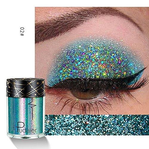 Kosmetik Wasserdicht Lidschatten Eyeshadow Pulver Nature Glow Schimmern Glitzer Augen Schatten...