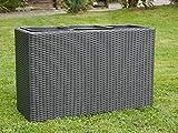 Raumteiler Deluxe L85x B31x H55cm aus Polyrattan