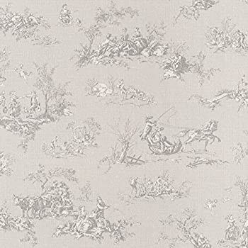 provencale toile de jouy wallpaper black 6171 kitchen home. Black Bedroom Furniture Sets. Home Design Ideas