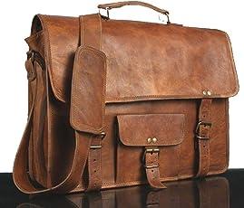 Echtes Leder Messenger Bag voller Klappe Laptop-Tasche Eco-Friendly Leder Cross-Body Bag