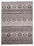 Orientalischer Teppich - Für Ihre Wohnzimmer Schlafzimmer Esszimmer - Hell Grau - 160 x 220 cm - Klassisches Marokkanisches Berber Muster - Kurzflor Pflegeleicht Robust