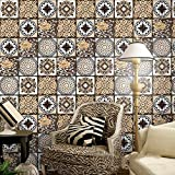 JY ART Fliesenaufkleber für Küche und Bad | Mosaik-Stil Designs Wandfliesen Aufkleber für Fliesen | Fliesen-Aufkleber Folie | Deko-Fliesenfolie (PG121), 20cm*5m