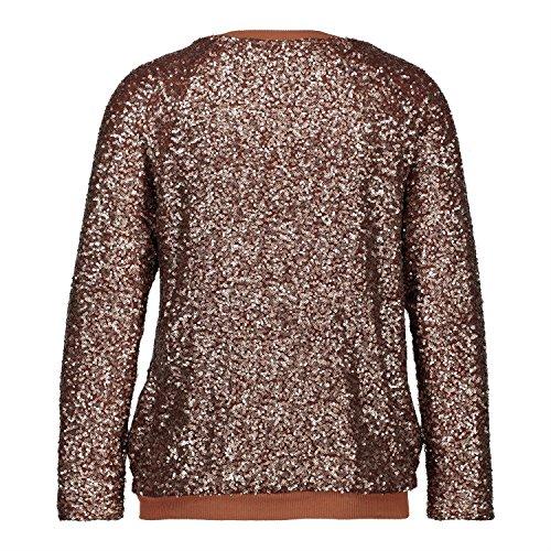 H4F Damen Bomberjacke Glitter Blouson Jacke mit Pailletten One Size 36 38 40 - 5