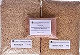 Räucherspäne Räuchermehl, Kirsche und Buche Typ 5 inkl. fertige Mischung Pökellake ungarisch Komplettpaket, für BORNIAK Räucheröfen Geeignet