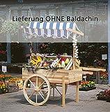 Marktwagen / Dekowagen / Holzwagen ohne Baldachin, Holz   Höhe 184 cm