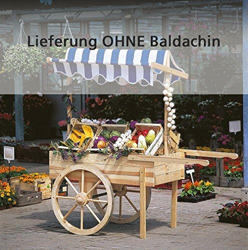 Marktwagen / Dekowagen / Holzwagen ohne Baldachin, Holz | Höhe 184 cm (Baldachin Wagen)
