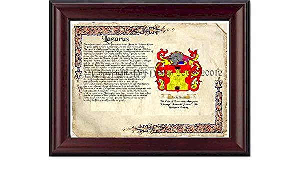 Lazarus Coat of Arms/ Family Crest on Fine Paper and Family