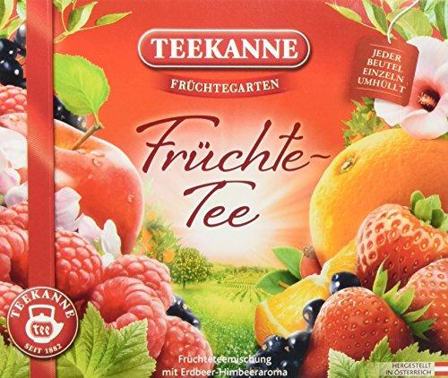 Teekanne Früchtegarten Früchtetee 40 Beutel, 6er Pack (6 x 110 g)