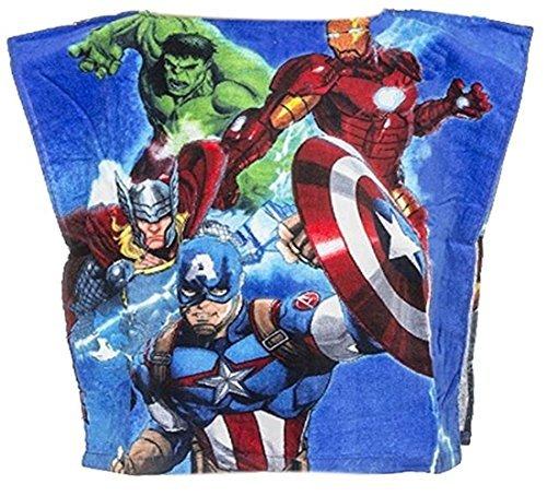 Serviette de plage poncho AVENGERS Marvel * 50x100cm 100% coton Taille Unique * NEUF * Garçon