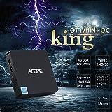 Mini PC, ACEPC T11 Windows 10 Ordenador de sobremesa Fanless 4GB RAM 32 GB eMMC, procesador Intel Atom x5-Z8350 Procesador de hasta 1,92 GHz, soporte de banda dual Wi-Fi, 4K HD, salida dual HDMI / VGA, SATA para 2,5 pulgadas HDD