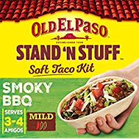 Old El Paso Mexican Smoky BBQ Stand 'N' Stuff Soft Taco Kit, 350g