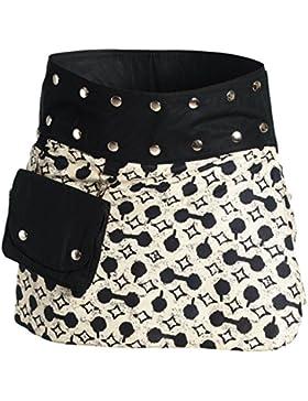 ufash Minifalda en Colores de Moda con Botones automáticos - Muchos Diseños Diferentes