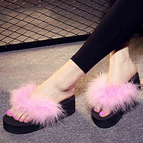 Estate Sandali Flip flop di modo Pantofole scivolose estive femminili Fresco all'aperto con 7 colori Colore / formato facoltativo #4