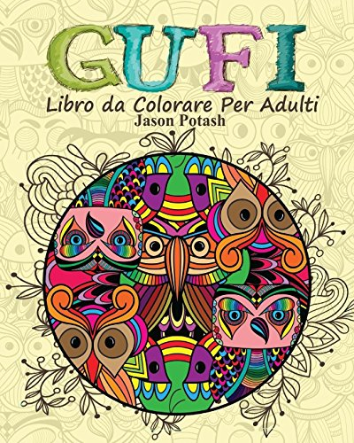 Gufi Libro Da Colorare Per Adulti