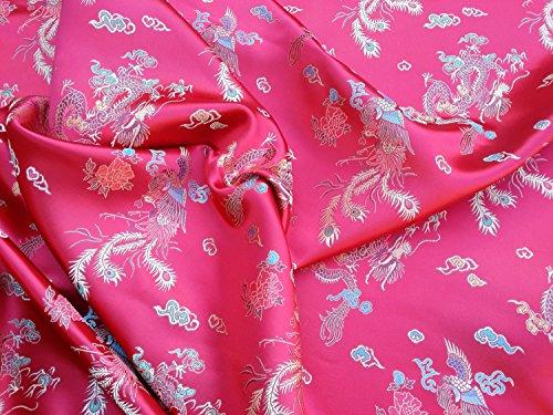Prestige Stoffe Orientalische Seide Brokat Chinesischer Drache, chinesische Drachen Kleid,...