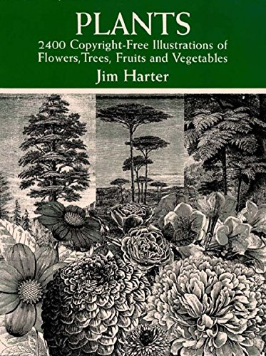 Plants: 2,400 Royalty-Free Illustrations of Flowers, Trees, Fruits and Vegetables (Dover Pictorial Archive) (English Edition)
