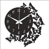 Zuaad Pvt Ltd The Art Arcade Wood Designer Wall Clock (Black)